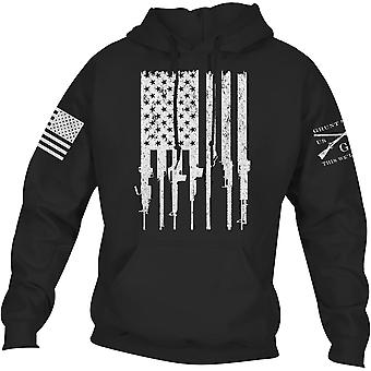 Grunt Style Rifle Flag 2.0 Pullover Hoodie - Black
