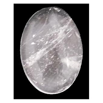 1 x Clear Rock Crystal Flat Back 18 x 25mm Oval 6.5mm Thick Cabochon CA16648-6