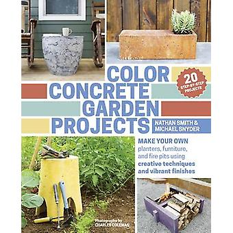 Color Concrete Garden Projects - Making Your Own Planters - Furniture