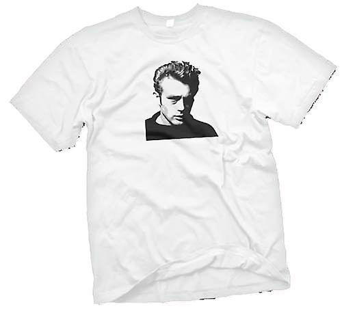 Mens t-skjorte - James Dean - BW - ikonet
