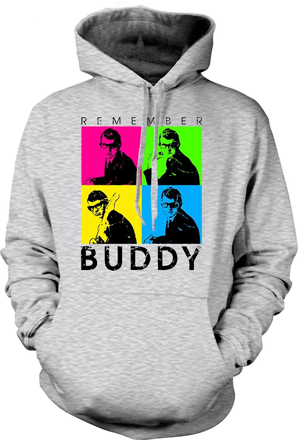 Mens Hoodie - Buddy Holly kom ihåg