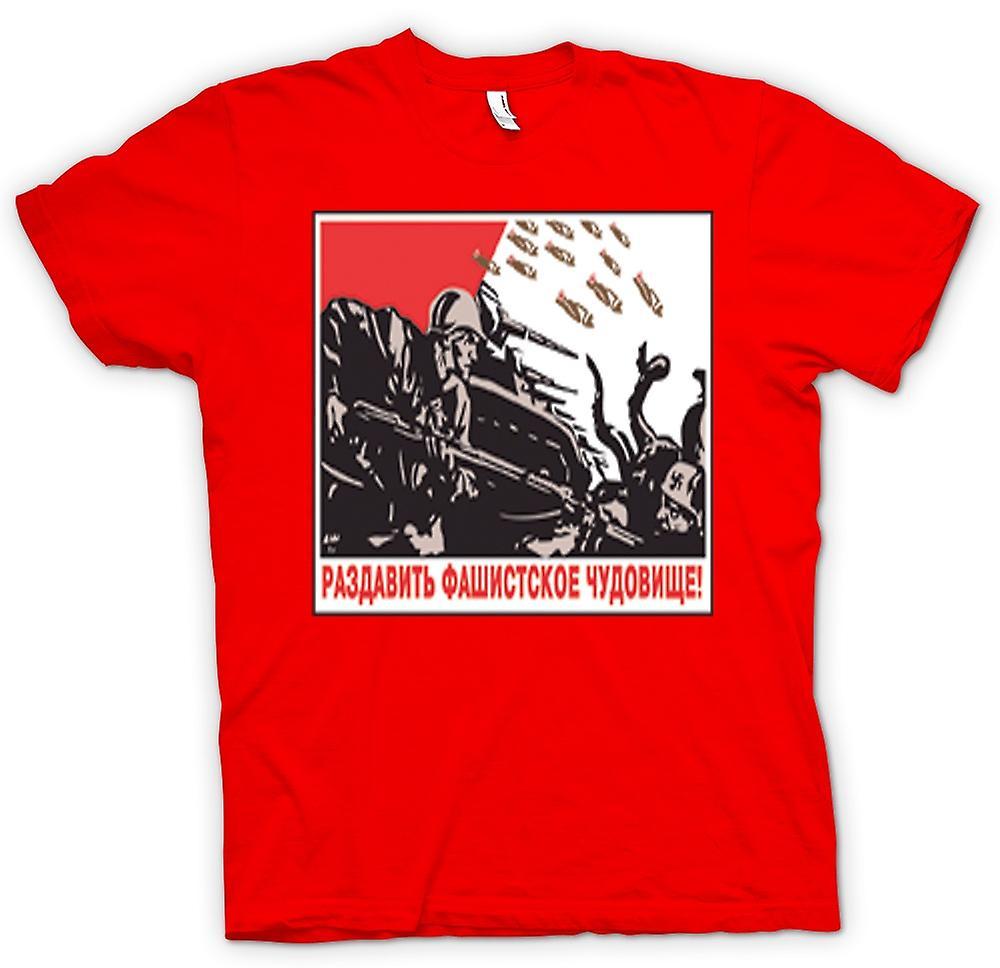 Herr T-shirt-ryska propagandan krig affisch
