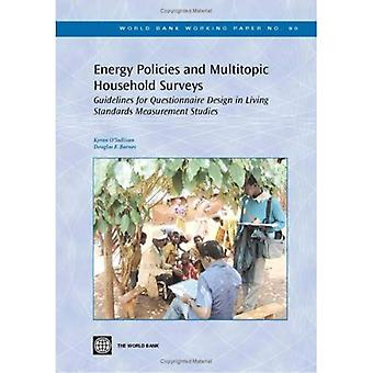 Energy Policies and Multitopic Household Surveys: Guidelines for Questionnaire Design in Living Standards Measurement Studies (World Bank Working Papers)