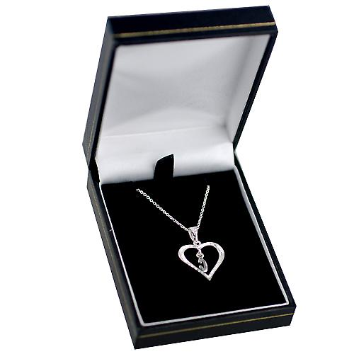 Silver 18x18mm initial C in a heart Pendant with a rolo Chain 14 inches Only Suitable for Children