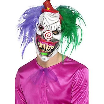 Mens Kolorful Killer Klown Maske Halloween Fancy Dress Zubehör