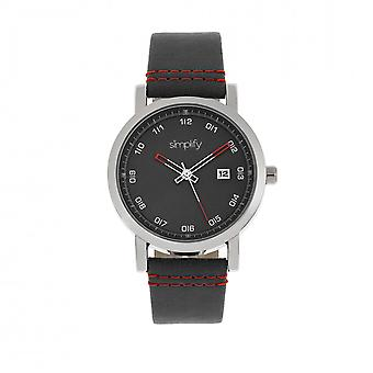 Simplify The 5300 Strap Watch - Silver/Black