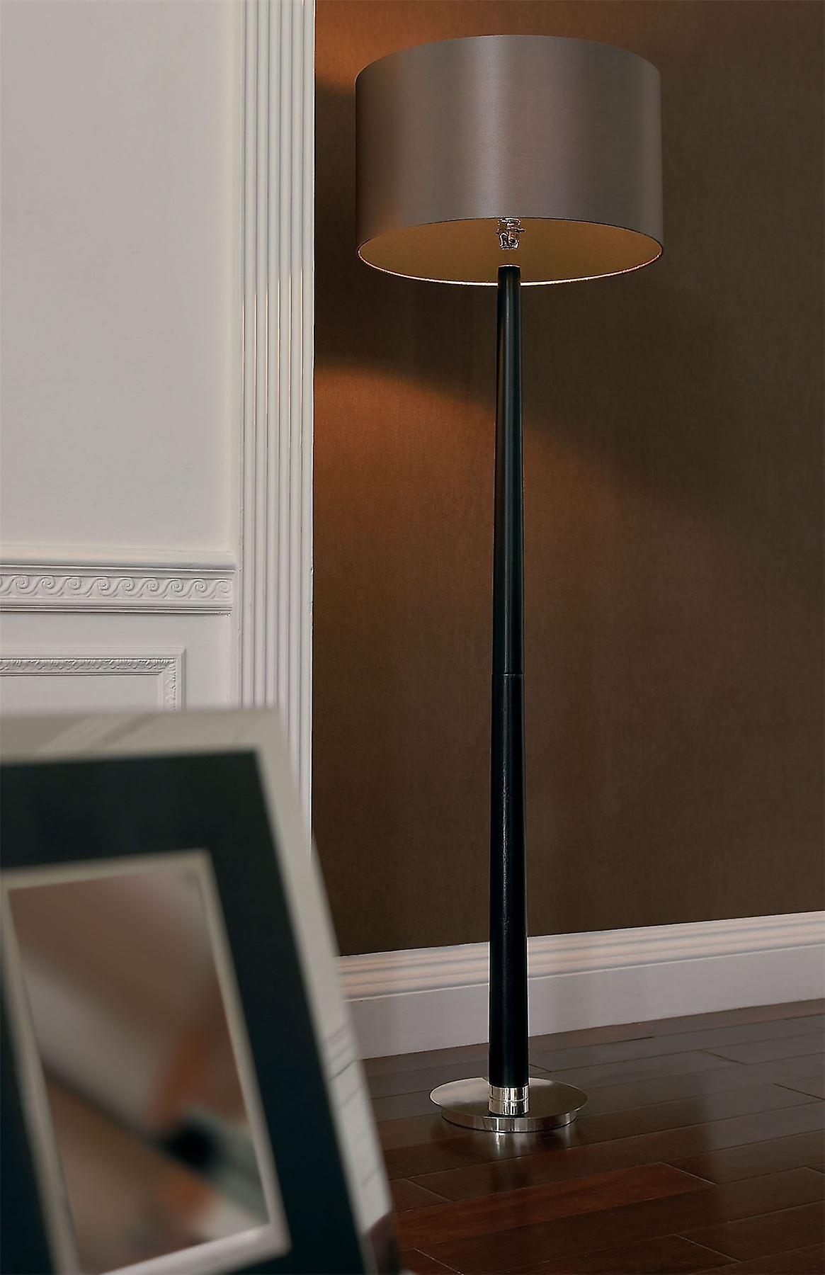 Rubber Oak boisstick Floor Lamp - Endon CHASSELAS