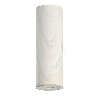 Glasberg - LED Semi-Flush Ceiling Light 30cm White Wood 712011001