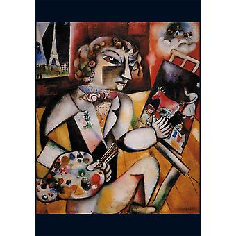 Piatnik Chagall Self Portrait with Seven Fingers Jigsaw Puzzle (1000 Pieces)