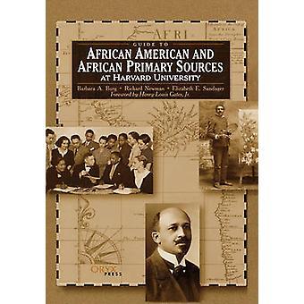 Guide til African American og afrikanske primærkilder ved Harvard University av Oryx publisering