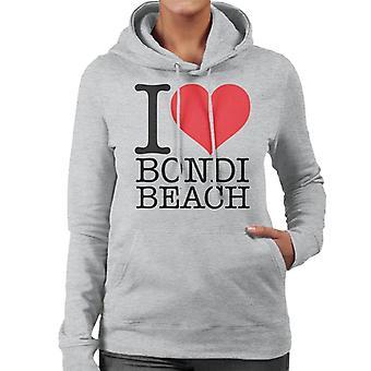 Jeg elsker Bondi Beach kvinner er hette Sweatshirt