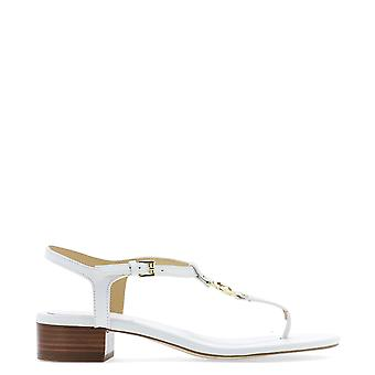 Michael Kors White Leather Sandals