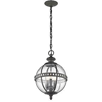 Stead-3 Light Chain Lantern-Londonderry Finish-KL/HALLERON/8M