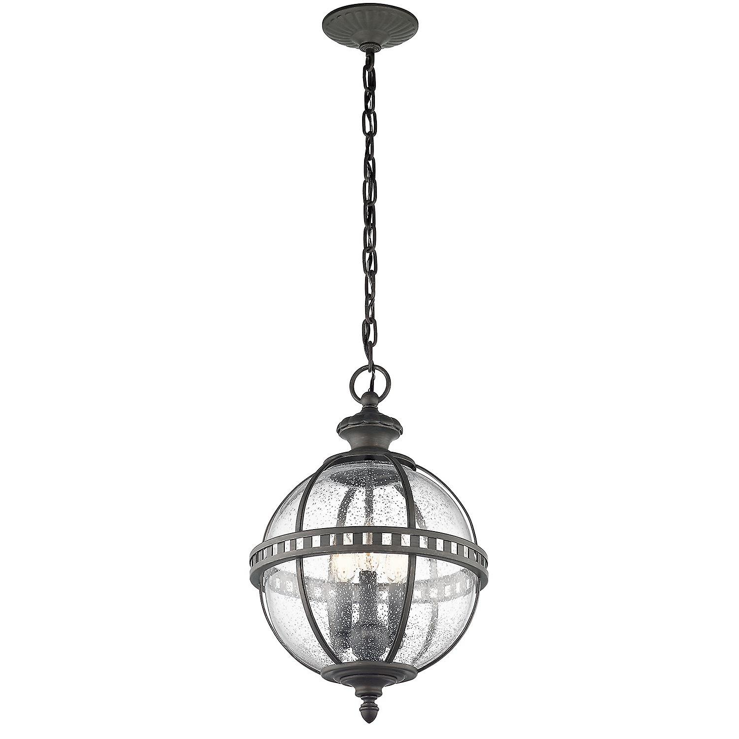 Elstead - 3 Light Chain Lantern - Londonderry Finish - KL HALLERON 8M