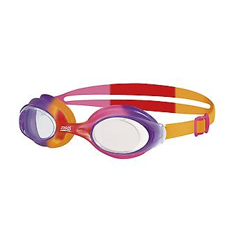 Zoggs Bondi Junior Swimming Goggles - 6-14 Years - Purple/Orange/Pink