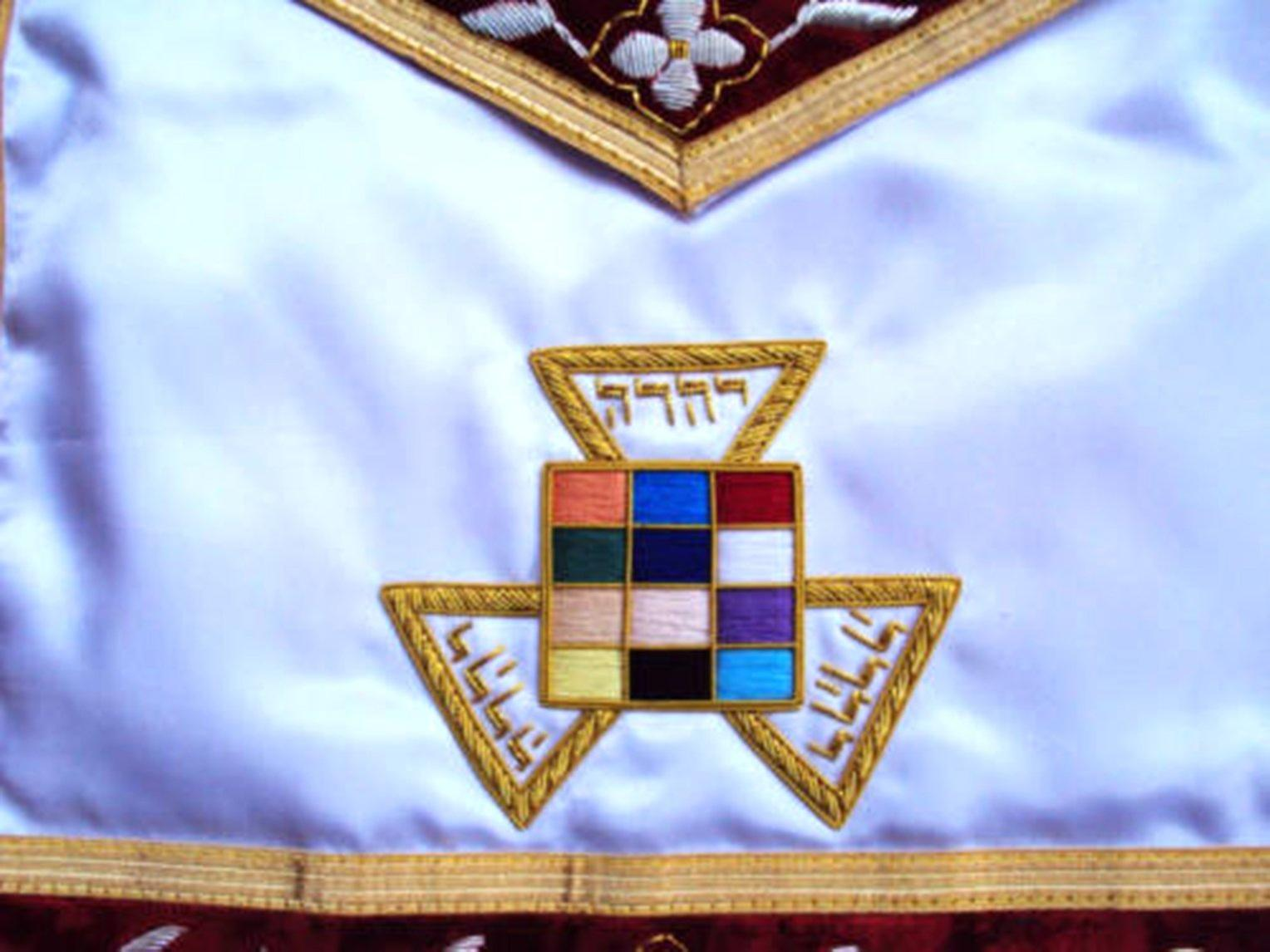 Hand Embroided Masonic Royal Arch PHP Apron