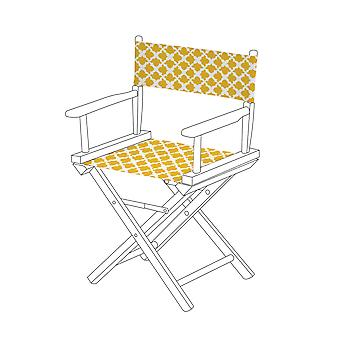 Gardenista® Arabesque Mustard Design Replacement Directors Chair Canvas Cover
