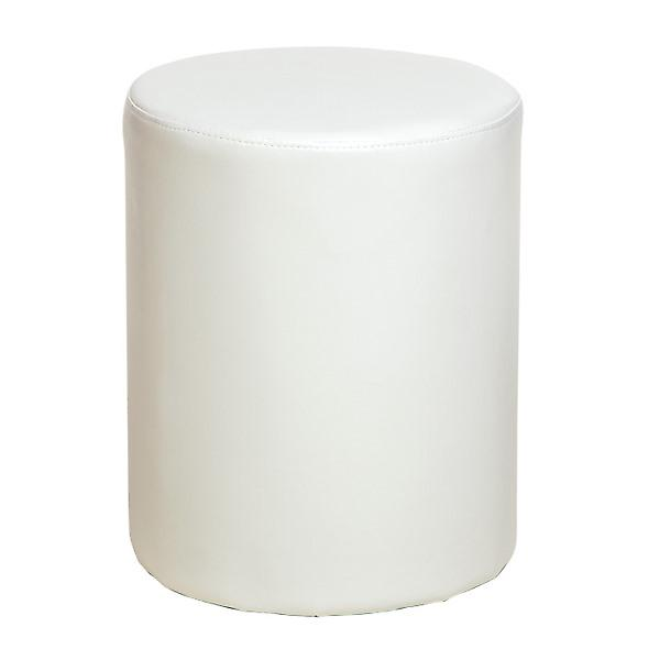 Quebec Cream Upholstered Round Stool