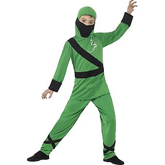 Jungs Green Ninja Assassin Fancy Dress Kostüm