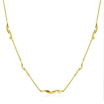 Ania Haie Gold Plated Sterling Silver 'Helix' 15'' Necklace