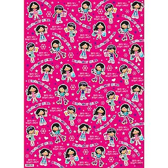 Simon Elvin Birthday Girl Gift Wraps (24 Sheets)