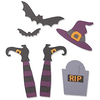 Sizzix Thinlits Die Set Spooky Witch Set of 9 by Georgie Evans
