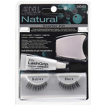 Ardell Naturals Babies Starter Kit - Natural Look Strip Eyelashes With Glue