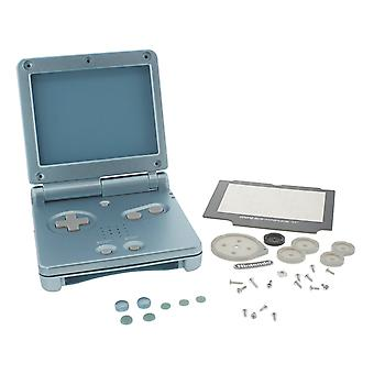 Replacement housing shell kit for nintendo game boy advance sp mario edition - pearl blue