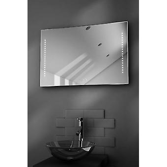 Bella Ultra-Slim Bathroom Mirror With Clock, Demister & Sensor k194