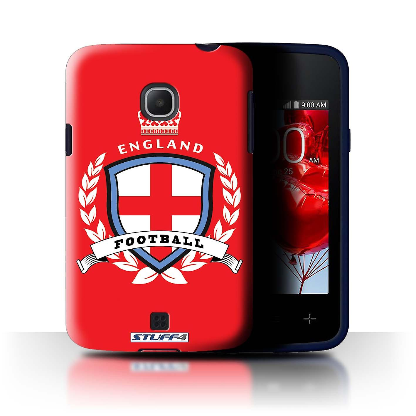 Stuff4 Case Cover For Lg L30 D120 England English Football