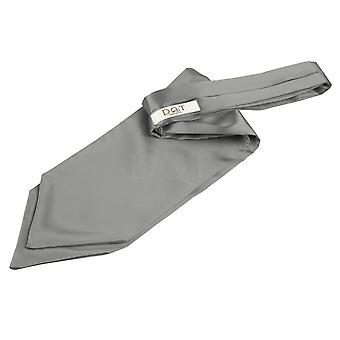 Plain Platinum Satin Self-Tie Cravat