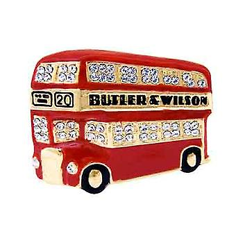 Butler & Wilson London Bus Brooch