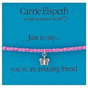 Carrie Elspeth Just to Say You`re an Amazing Friend Sentiment Stretch Bracelet