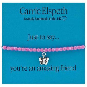 Carrie Elspeth bare at sige du er en fantastisk ven Sentiment Stretch armbånd