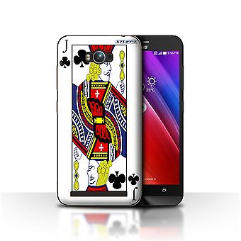 STUFF4 Case/Cover for Asus Zenfone Max ZC550KL/Jack of Clubs/Playing Cards