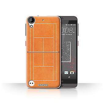 STUFF4 Case/Cover for HTC Desire 530/Orange Clay Court/Tennis Courts