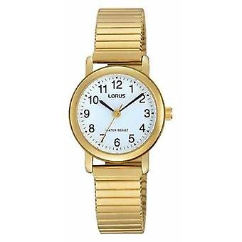 Lorus Womens Gold Tone Stainless Steel White Dial RRS78VX9 Watch