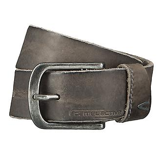 Camel active belts men's belts leather belt grey 4620