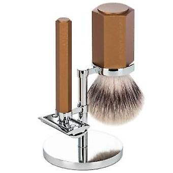 Muhle Hexagon 3pc Safety Razor Set in Bronze