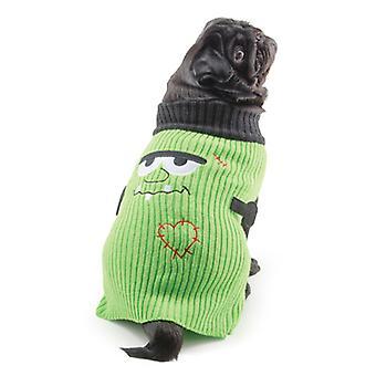 Pequeña picadura Halloween suéter verde pequeño