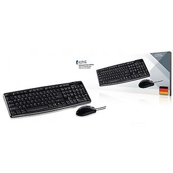 König USB keyboard and optical mouse