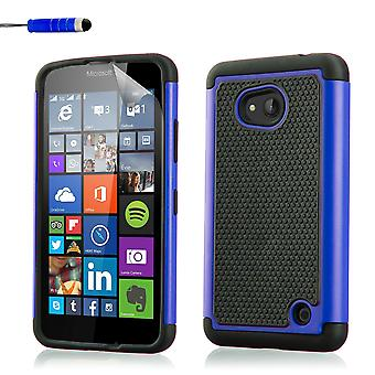 Shock proof fodral för Microsoft Lumia 640 + stylus - Deep Blue