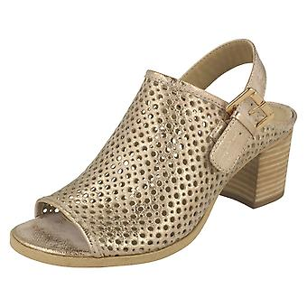 Ladies Savannah Mid Heel Summer Sandals F10624