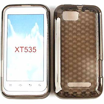 Unlimited Cellular Rubber Soft Silicone Case for Motorola XT535/ Defy XT (Trans.