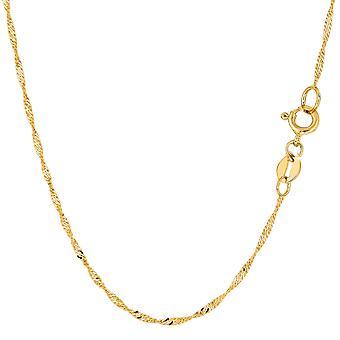 10 k Gelb Gold Singapur Kette Halskette, 1,5 mm