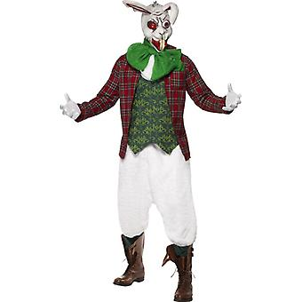 Coniglietto Costume zombie Pyscho coniglietto coniglio rabbioso halloween costume uomo