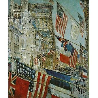 Childe Hassam - Allies Day Poster Print Giclee