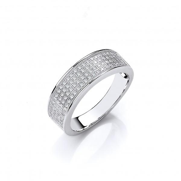 Cavendish francese Sterling Silver CZ Wedding Style Anello fascia