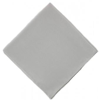 Michelsons of London Plain Silk Handkerchief - Grey