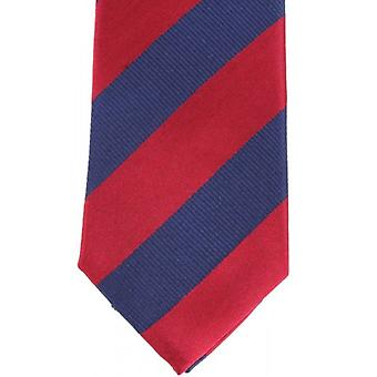 Knightsbridge Neckwear 2-Toned Diagonal Striped Silk Skinny Tie - Navy/Red